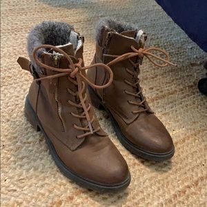 Steve Madden Combat Ankle Boots